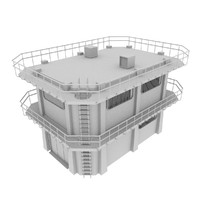 3d blender colony building model