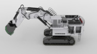 liebherr r9800 3d model