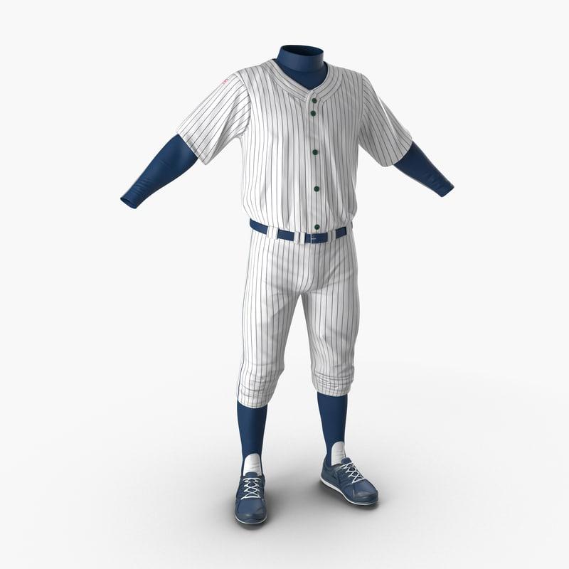 Baseball Player Outfit 3d model 00.jpg