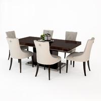 eichholtz dining table park 3d obj