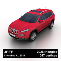 2014 jeep cherokee kl 3d 3ds