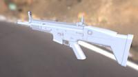 3d model scar-l rifle