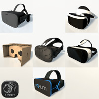 VR headsets low poly x6 package