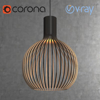 Scandinavian (finnish) Octo 4240 pendant light by Secto Design interior lamp (Vray and Corona render)