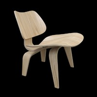 3d model eames plywood chair