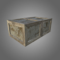 Wooden Crate Low-Poly