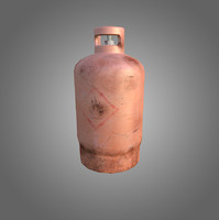 low-poly gas cylinder 3d obj