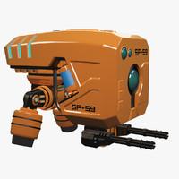 sci-fi military drone 3d max