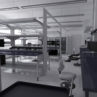 3d model scientific laboratory