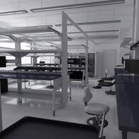 3d model scientific laboratory