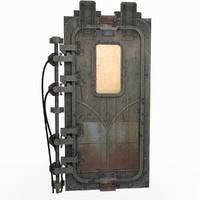 3d model door rendered