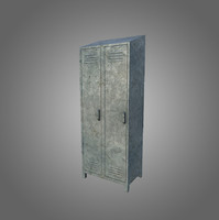 low-poly locker 3d model
