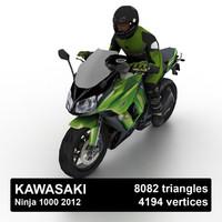 3d model 2012 kawasaki ninja 1000