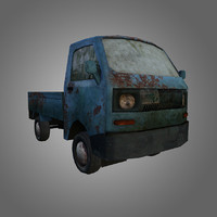 low-poly truck 3d 3ds