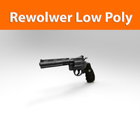 3d model rewolwer weapon haigh