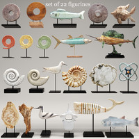 3d figurines sculpture fish