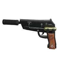 3d model pistol sci fi