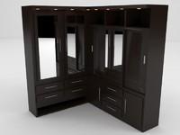 dressing room 3d model