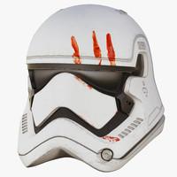 3d model order stormtrooper finn helmet