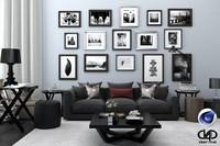 Living Room C4D + Vray 1.9