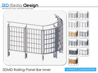 3DMD Railing Panel Bar Inner V4.2