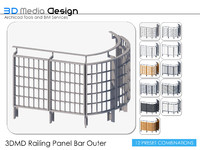 3DMD Railing Panel Bar Outer V4.2