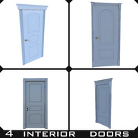 4 interior doors collection