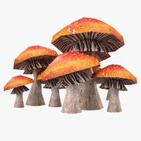 Lowpoly Mushrooms 01