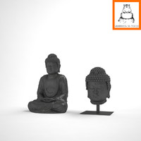 Groundhog 3D Models |  Buddha body and head statue