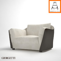 Groundhog 3D Models | Giorgetti Vittoria armchair