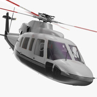Utility Helicopter Sikorsky s76 Rigged