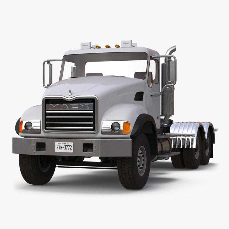 Truck Mack vray 3d model 00.jpg