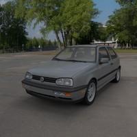 3d volkswagen golf mk3