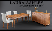 Laura Ashley Aylesbury Dining Table Set 3DS MAX