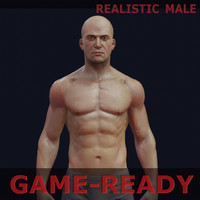 male gameready 3d model
