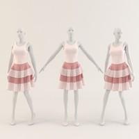 Woman clothing( Jolly Layered dress) 008