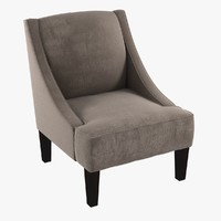 Custom made lounge armchair in beige textile