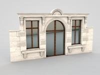 3d architectural element 5 model