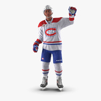 Hockey Player Montreal Canadiens Rigged