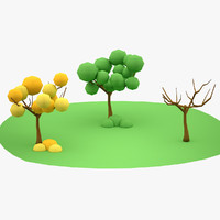 Lowpoly Trees 01