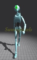 Robot Male Rigged