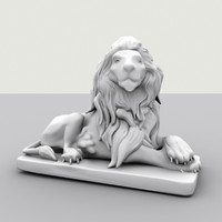 lion sculpture 3d max