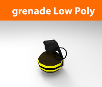 grenade low poly game ready