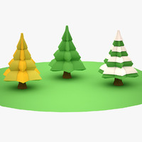 Lowpoly Trees 02