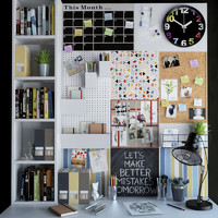 desktop office set