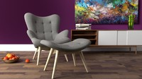 Grant Featherston Contour Chair rendered in Blender Cycles