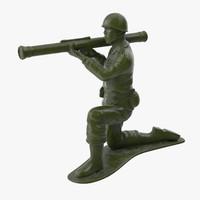 Plastic Toy Soldier 02 - Bazooka