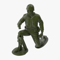 Plastic Toy Soldier 04 - Mortar