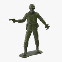 Plastic Toy Soldier 05 - Pistol
