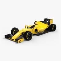 Low-poly Formula 1 2016 Yellow